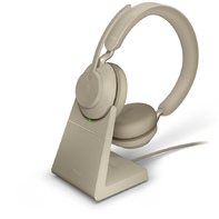 Jabra EVOLVE2 65 Link 380A UC Stereo stand Beige